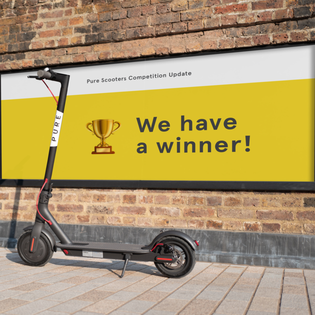 Annonce du gagnant du concours | Pure Scooters - Pure Scooters Limited