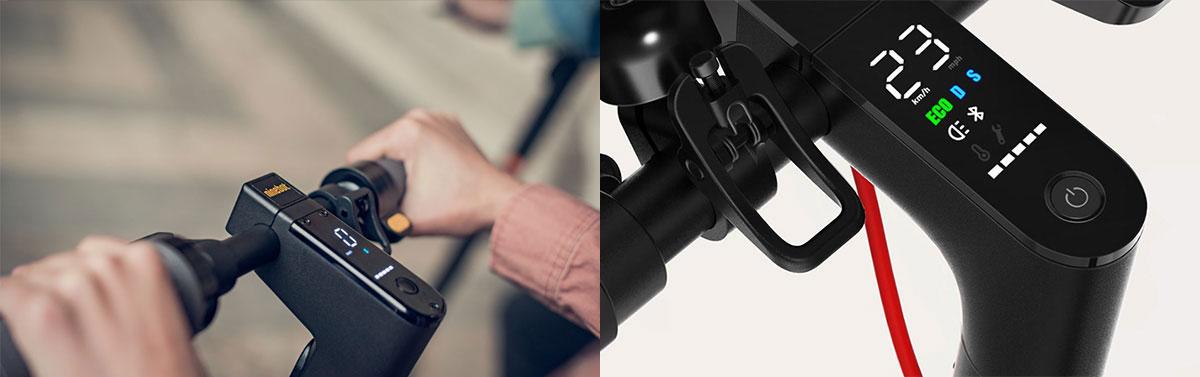 Ninebot Max vs Xiaomi Scooter Pro M365 - Écran