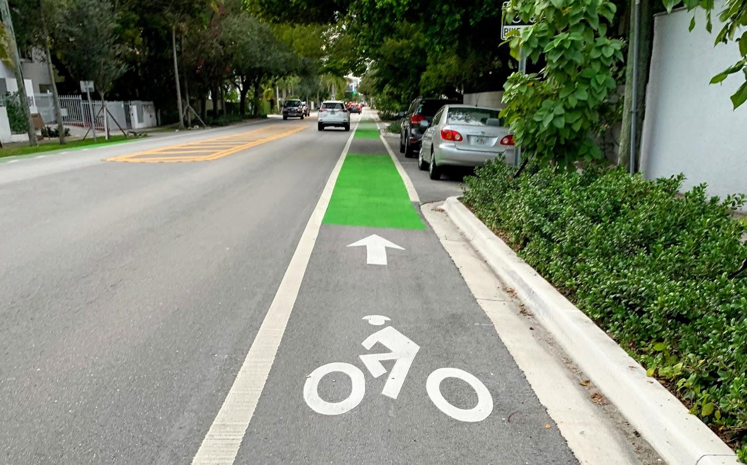 A Miami, la première piste cyclable financée par un scooter est terminée