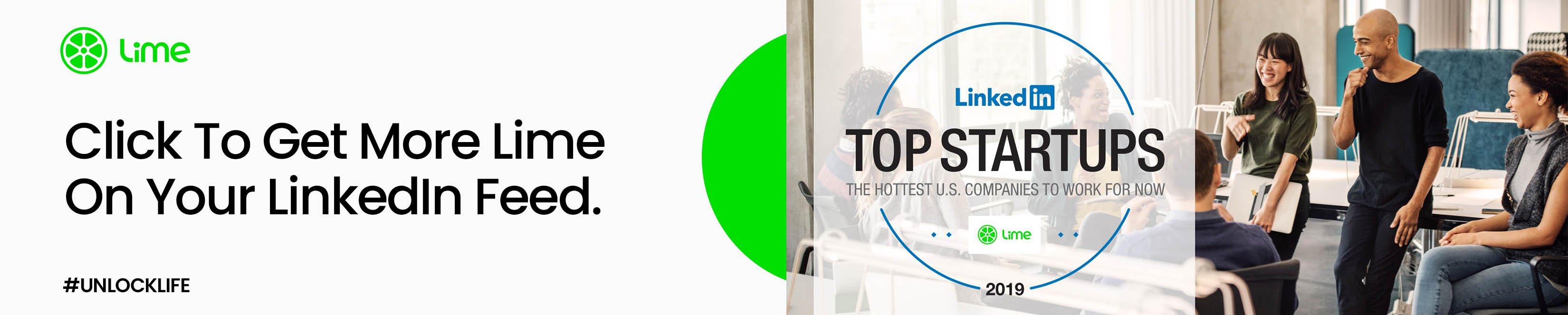 La chaux remporte les honneurs en micromobilité sur la liste des entreprises les plus en vogue de LinkedIn