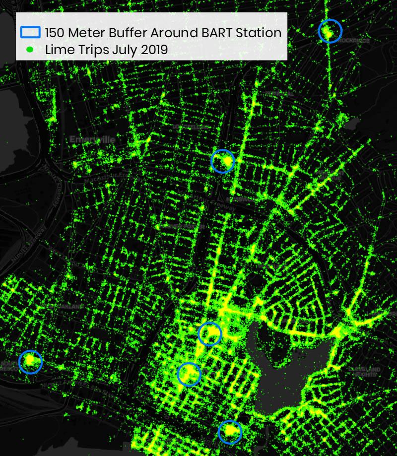 Les données de voyage à Oakland donnent de nouvelles informations importantes sur la demande de scooters à San Francisco