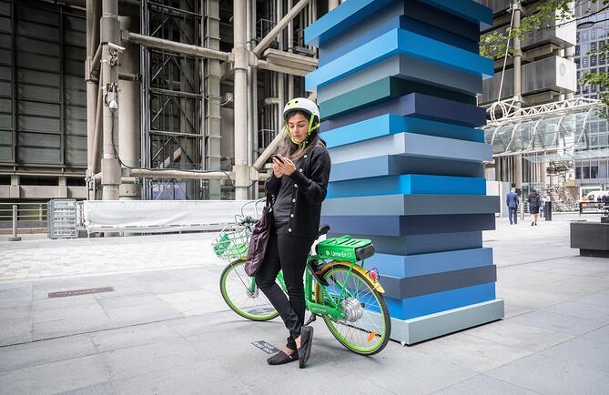 Les London Lime Riders font plus d'un million de balades en vélos électriques sans quai
