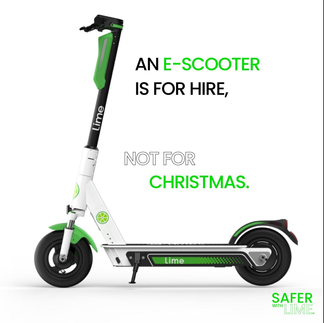 Lime lance une campagne pour se concentrer sur les problèmes de sécurité importants à l'approche de Noël