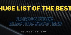 Meilleur scooter électrique en fibre de carbone sur le marché 2020