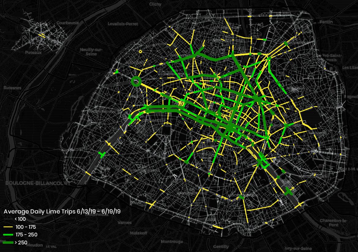 Un nouveau rapport examine l'impact des scooters électriques sur la durabilité à Paris